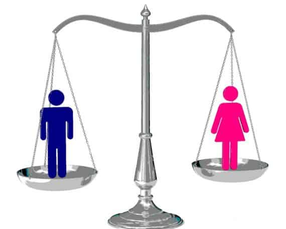 Male-female equality, is when?